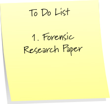 Forensic Science research writting
