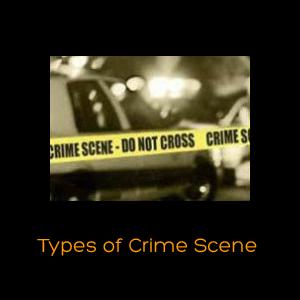 Types of Crime Scene.